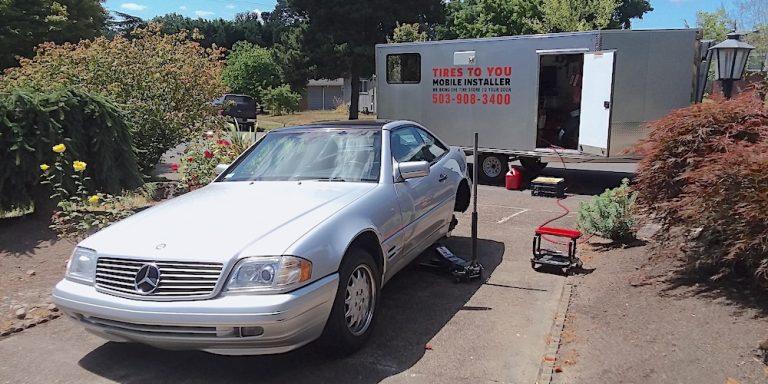 mobile care tire installation