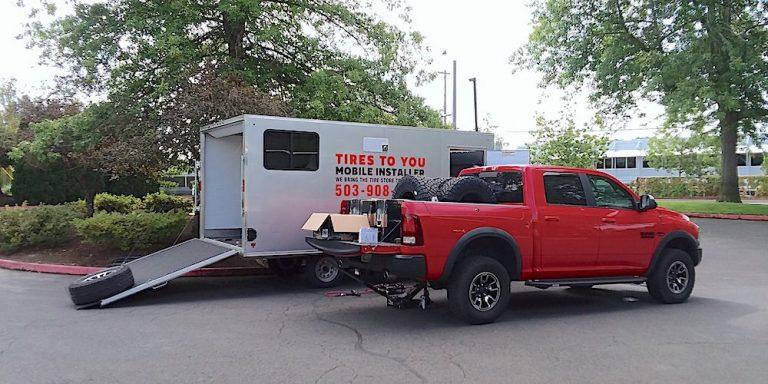 mobile truck tire installation